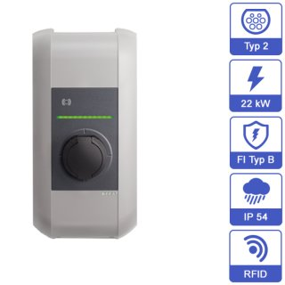 KEBA Home Wallbox KeContact P30 b-series 98131 (22 KW, SteckdoseTyp 2, RFID)